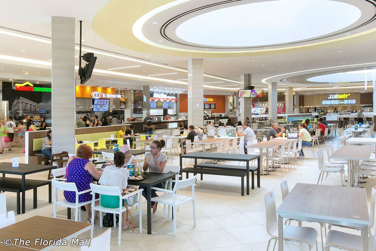 The Florida Mall - Largest Shopping Mall In Orlando - Florida Mall Food Court Map