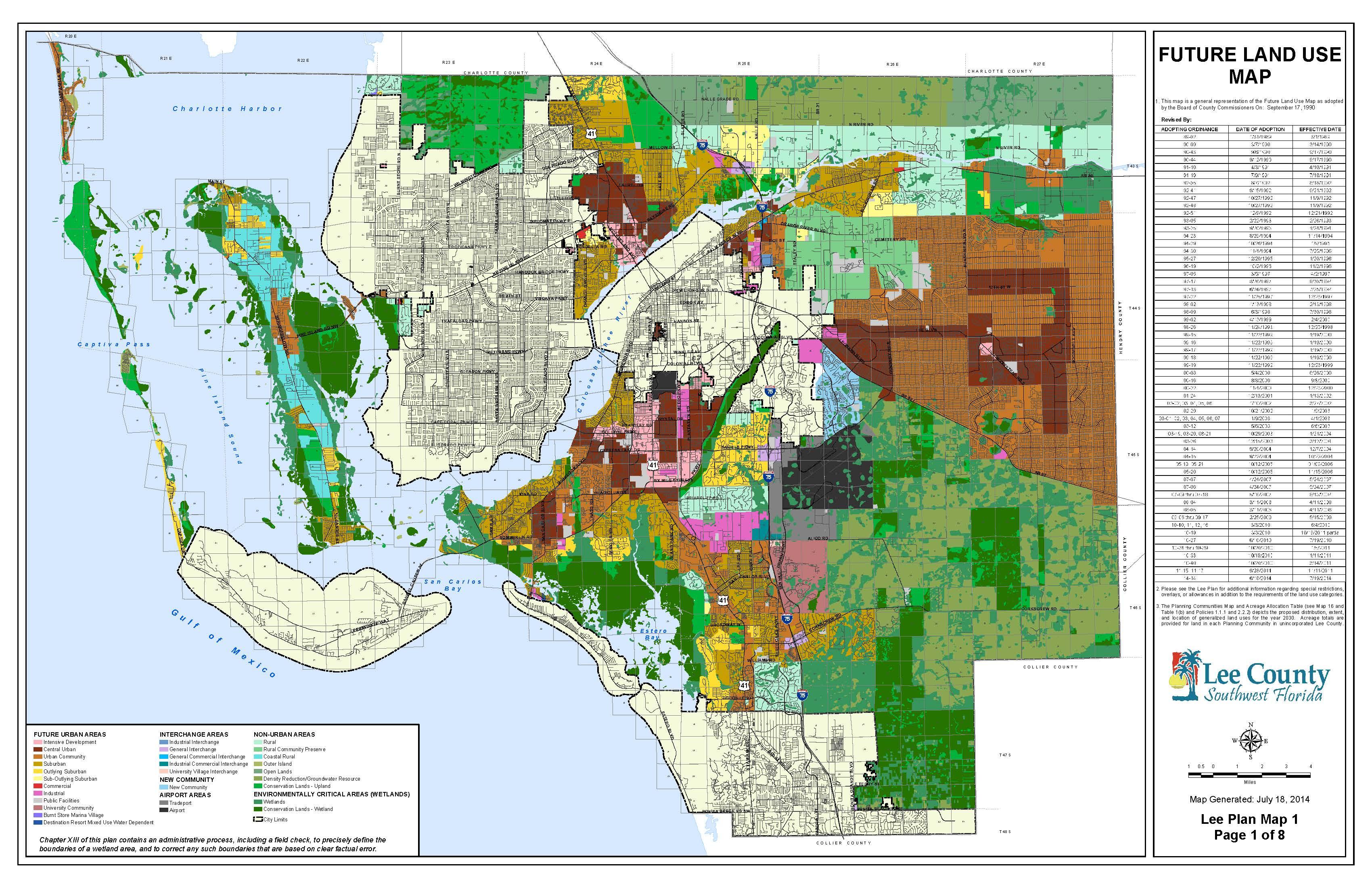 The Future Land Use Map - Florida Land Elevation Map