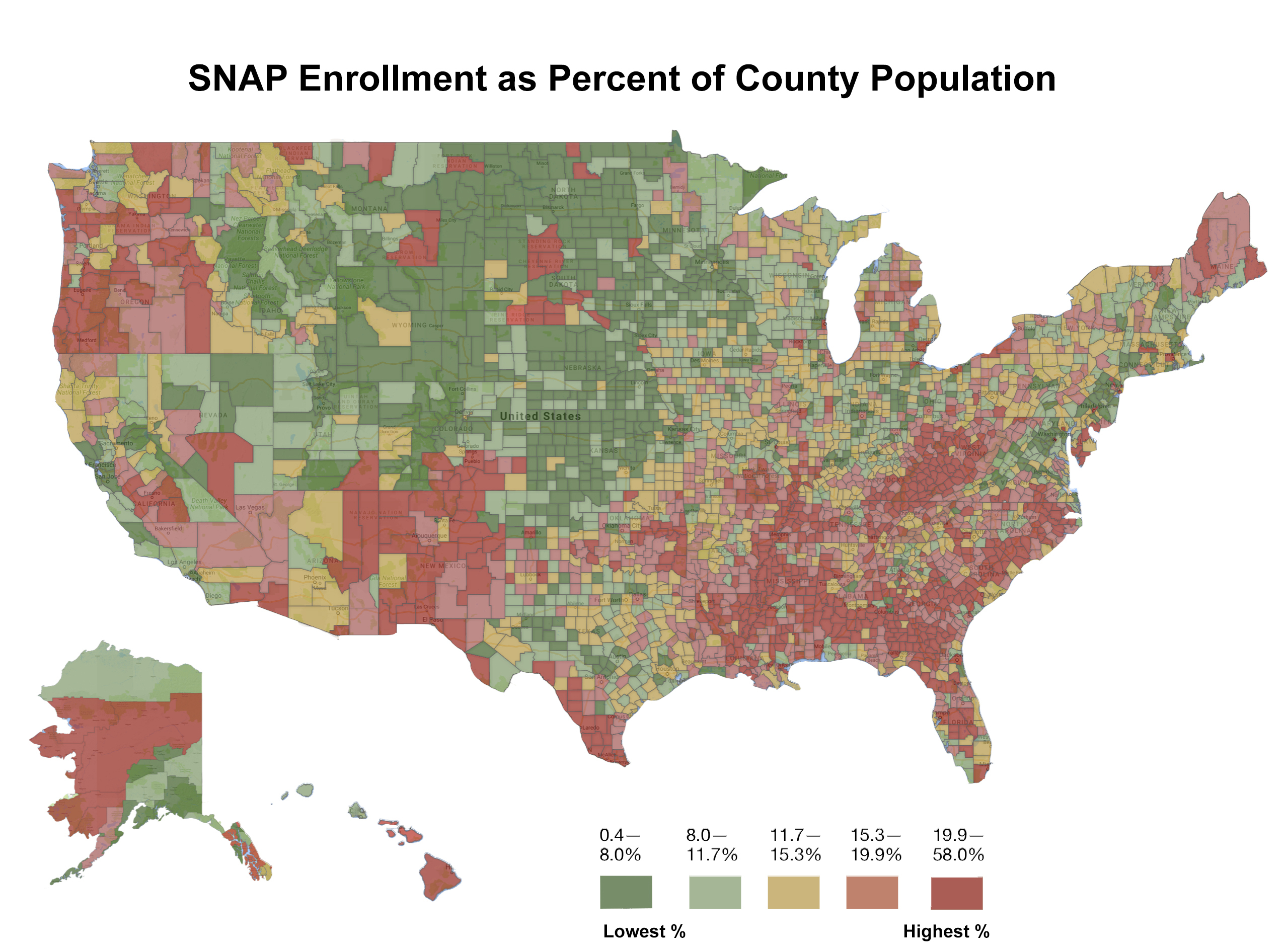 The Geography Of Food Stamps - Daily Yonder - Usda Property Eligibility Map Texas