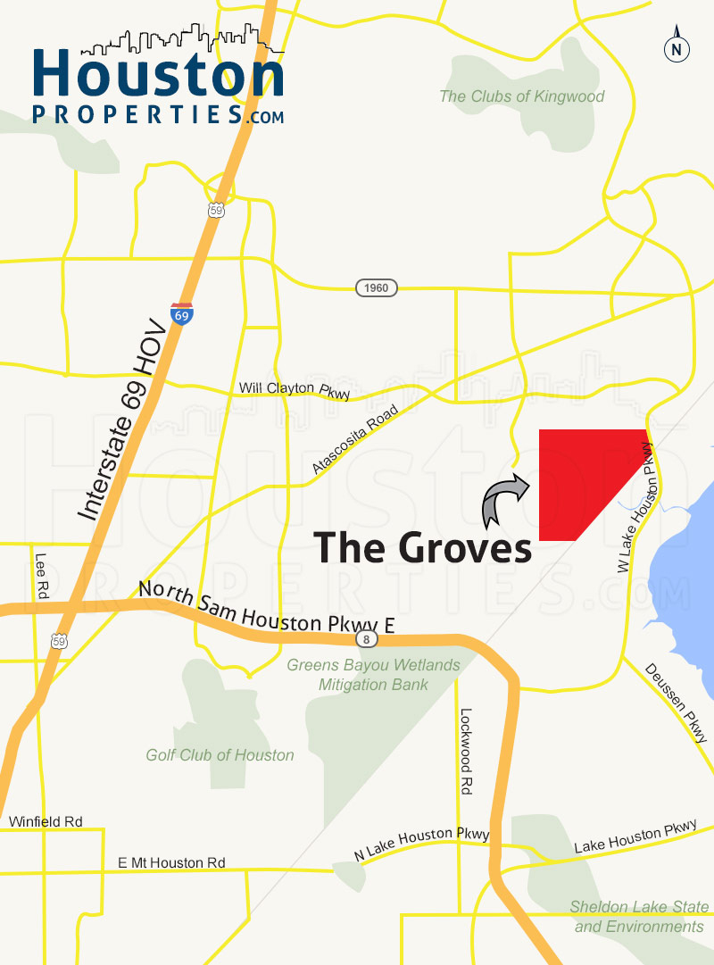 The Groves Humble Tx Guide | The Groves Homes For Sale - Groves Texas Map