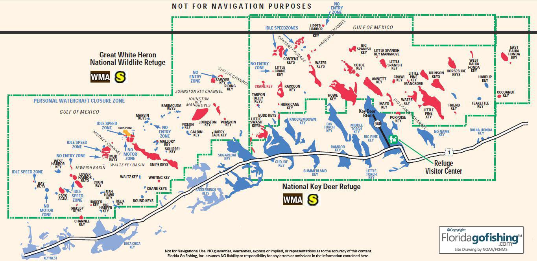 The Keys Parks And Preserves - Florida Go Fishing - Florida Keys Fishing Map