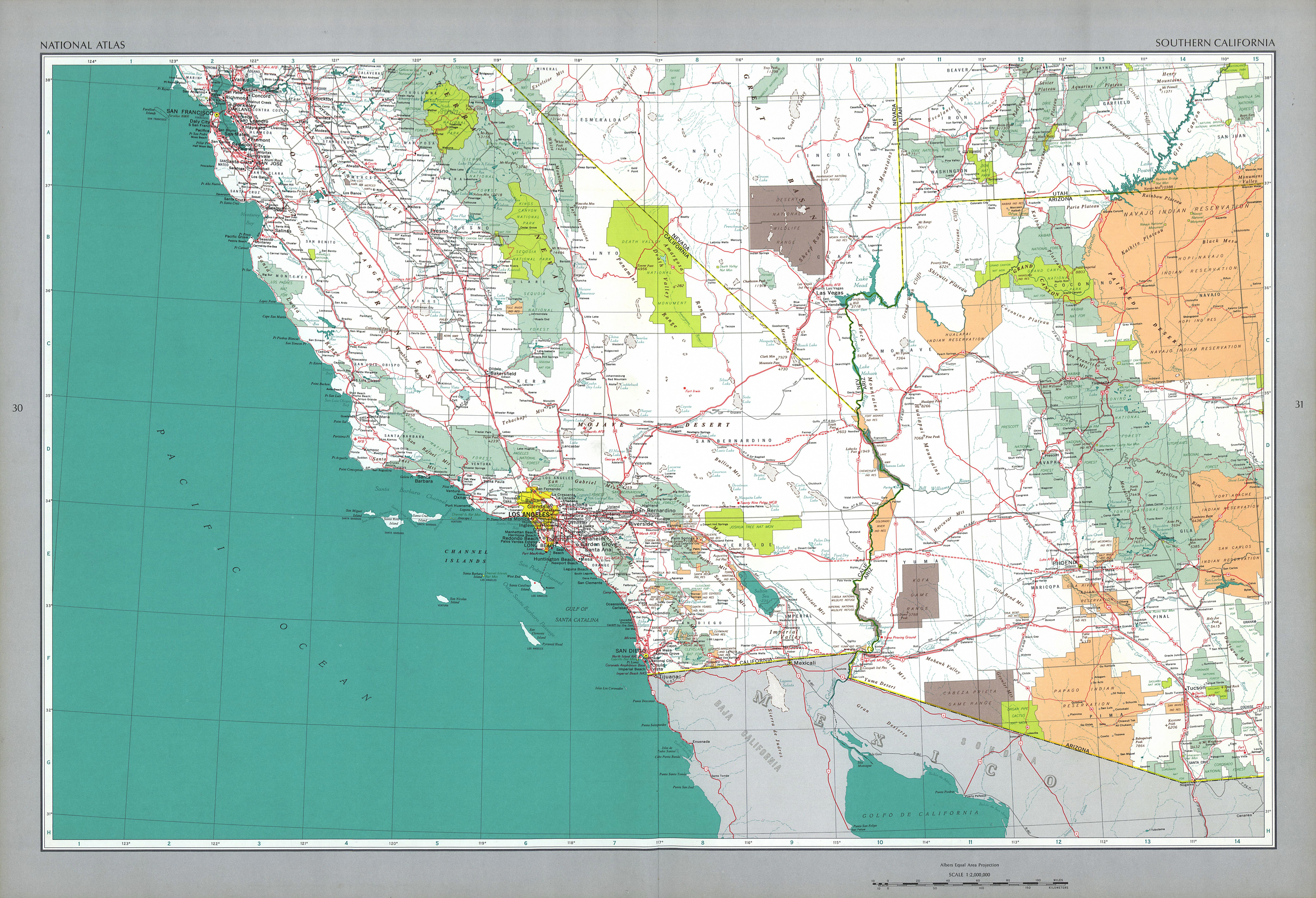 The National Atlas Of The United States Of America- Perry-Castañeda - Southern California Road Map Pdf