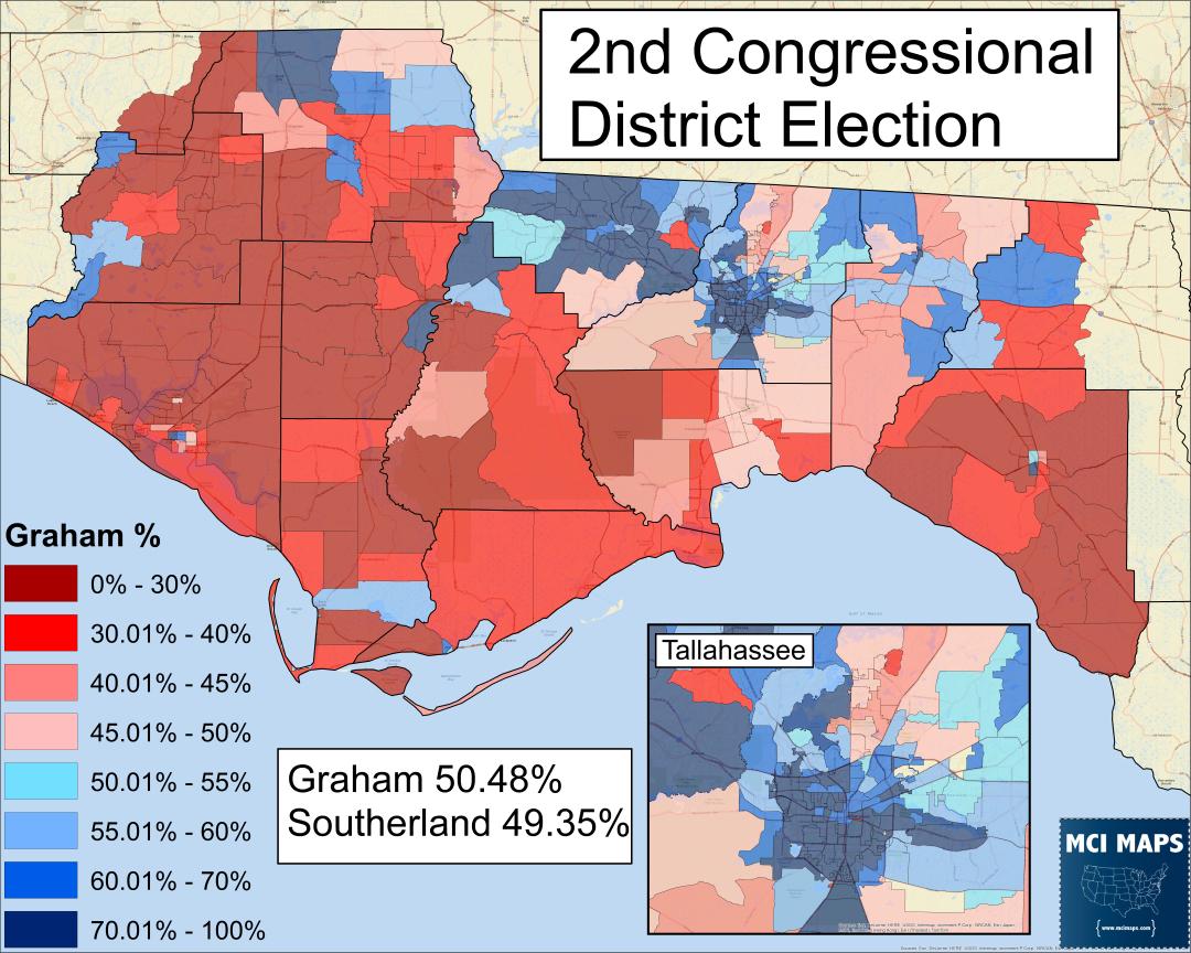 The North Florida Way: How Gwen Graham Won Fl-02 – Mci Maps - Florida North Map
