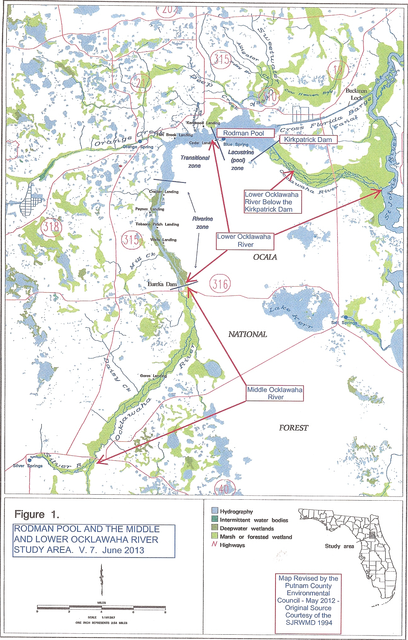The Ocklawaha Ecosystem – Florida Defenders Of The Environment - Silver River Florida Map
