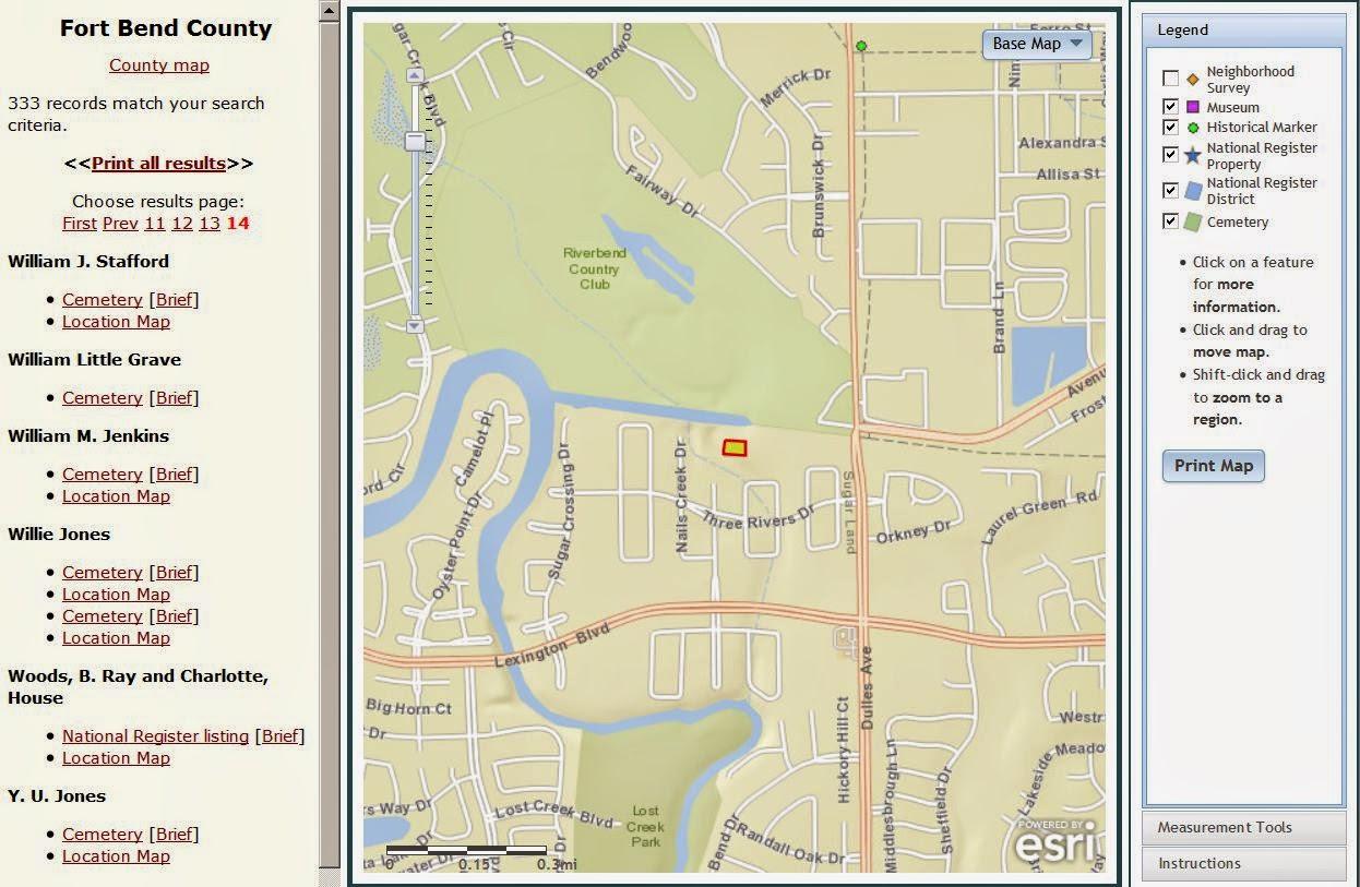 The Old Sugar Land Club House: Stafford - Stafford Texas Map