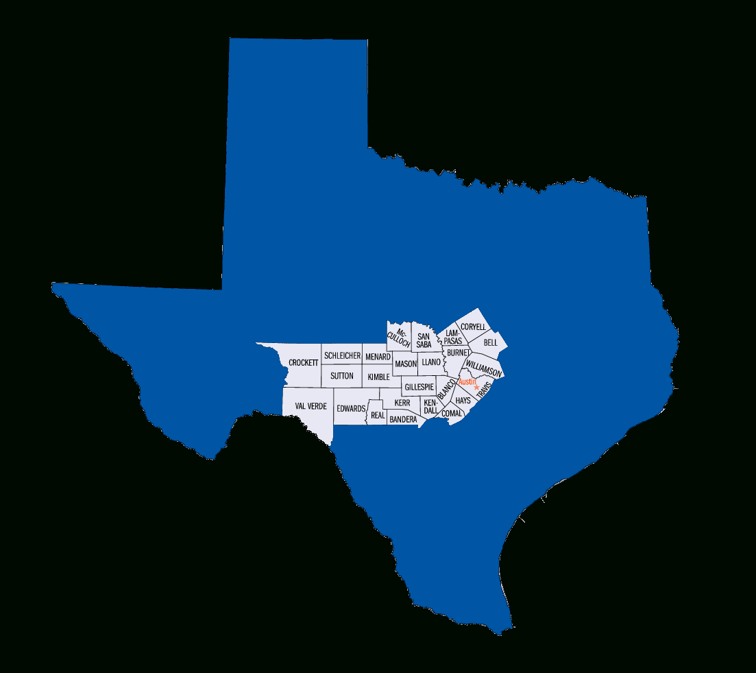 The Seven Regions Of Texas: Hill Country – Texas Veterans Blog – Medium - Texas Hill Country Map