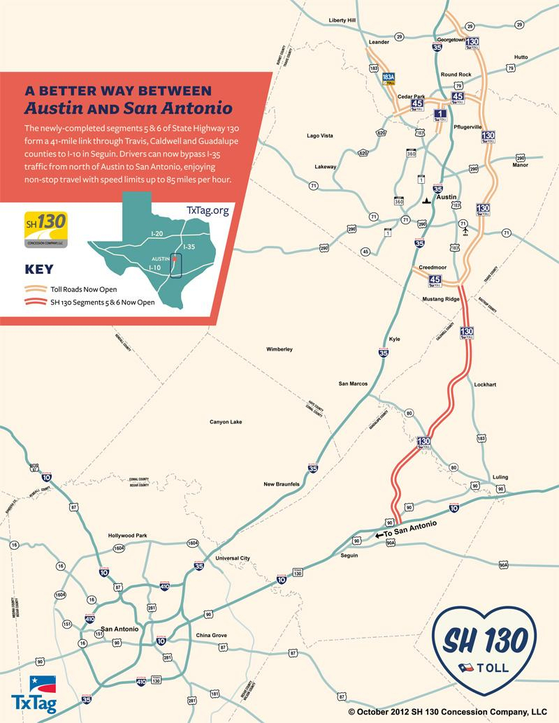 The Sh 130 Toll Road Debate: Are Taxpayers Taking Too Much Of The - I 35 Central Texas Traffic Map