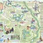 The Souvenir Map & Guide Of Inverness Fl   Hernando Florida Map