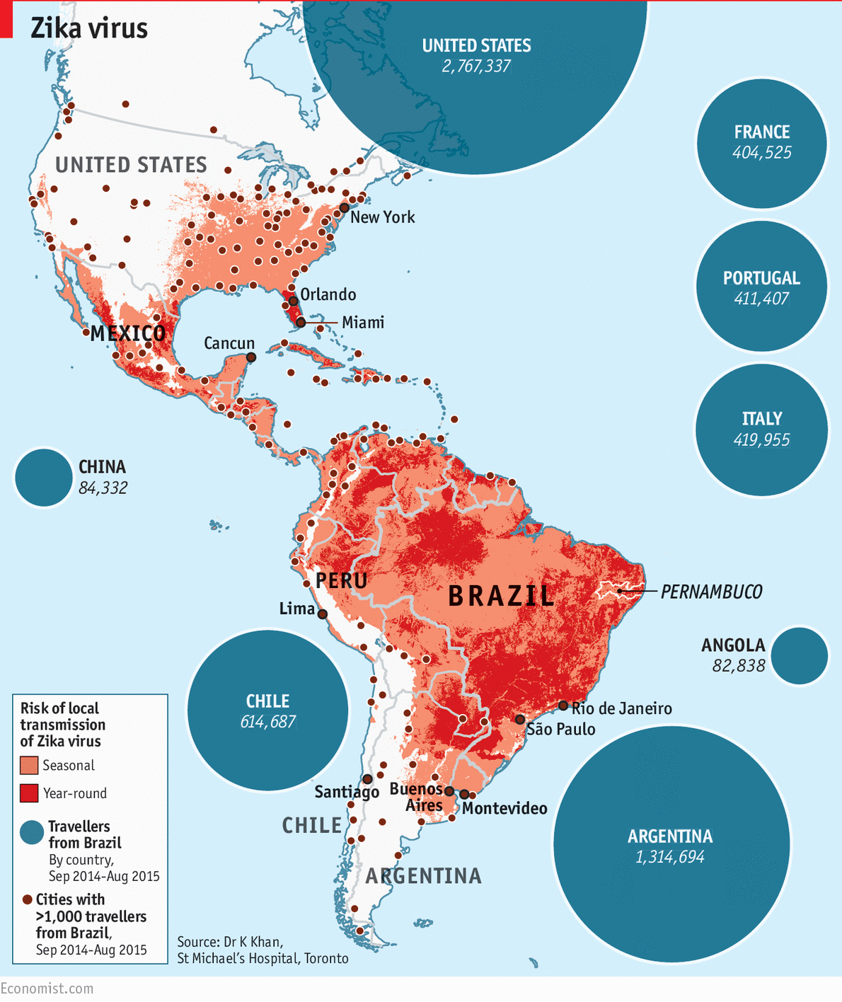 The Spread Of Zika Virus - Daily Chart - Zika Florida Map