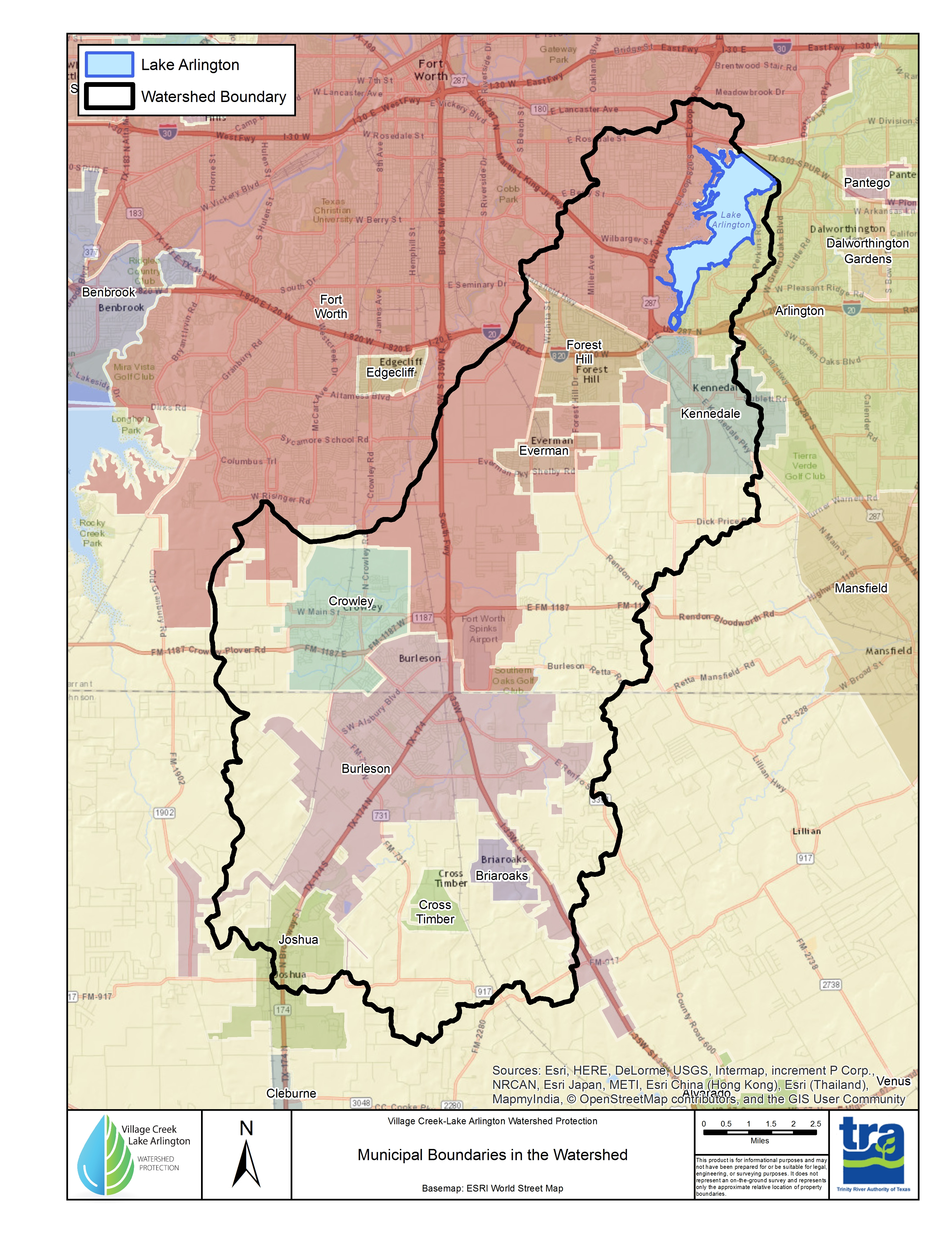 The Trinity River Authority Of Texas (Tra) - Texas Creeks And Rivers Map