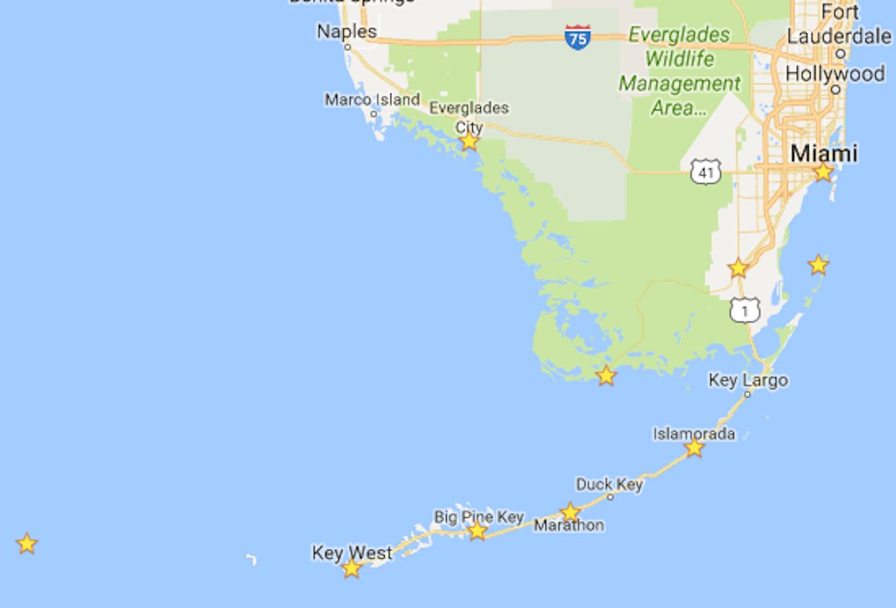The Ultimate 7-Day Florida National Parks Itinerary - Bearfoot Theory - Islamorada Florida Map