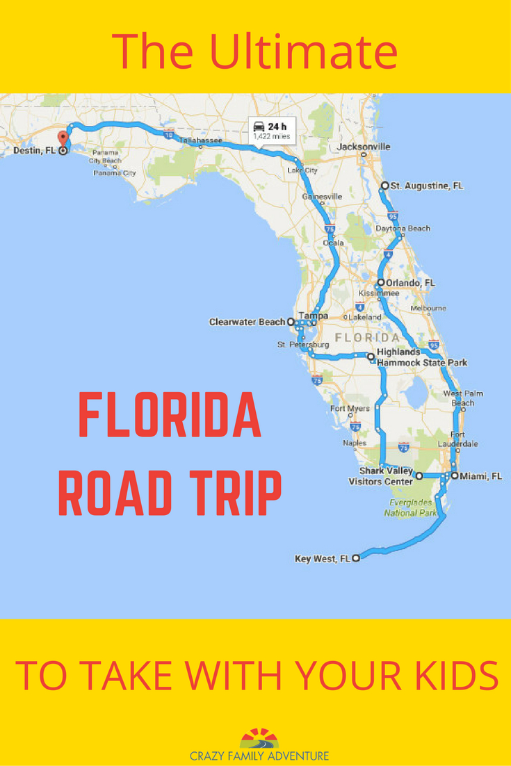 The Ultimate Florida Road Trip: 31 Places Not To Miss | Y Travel - Map Of Florida Panhandle Hotels