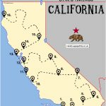 The Ultimate Road Trip Map Of Places To Visit In California   Hand   California Things To Do Map
