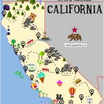 The Ultimate Road Trip Map Of Places To Visit In California   Hand   Map Of Hwy 1 California Coast