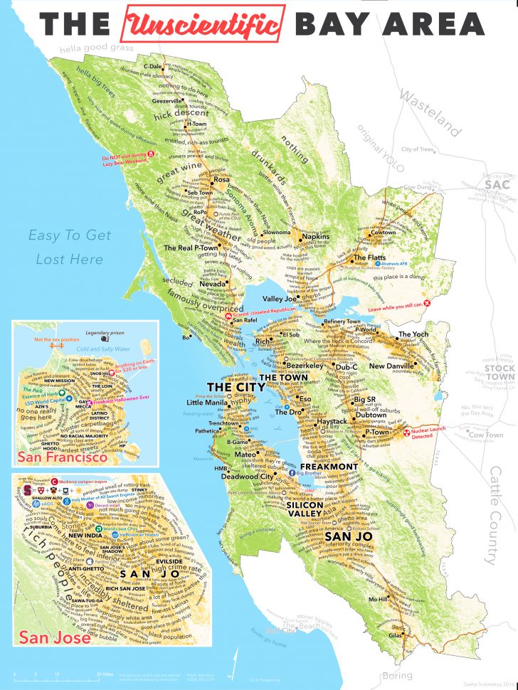 Printable Map Of San Francisco Bay Area