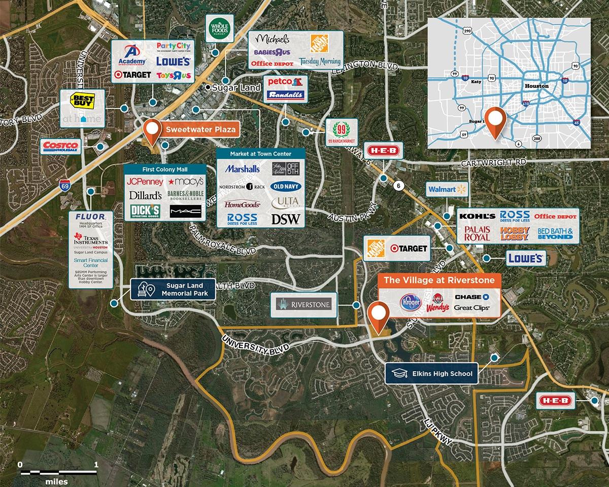 The Village At Riverstone, Sugar Land, Tx 77479 – Retail Space - Sugar Land Texas Map