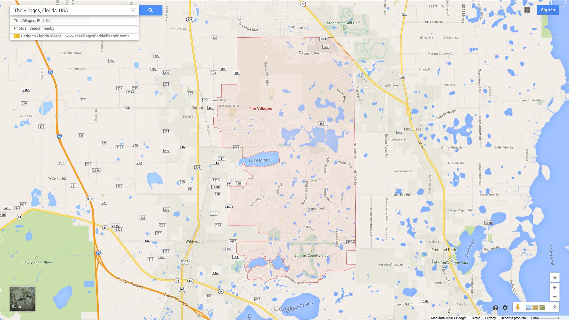 The Villages Florida Map - The Villages Florida Map