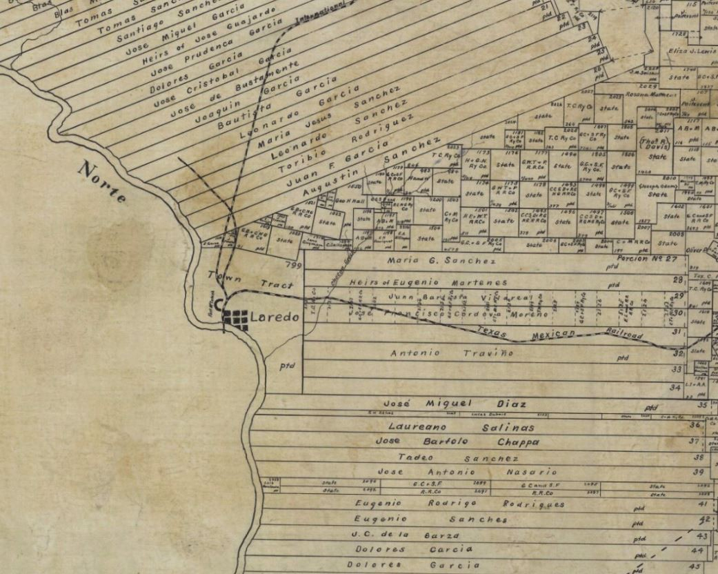 The Visita General And The South Texas Porciones – Save Texas - Map Of Spanish Land Grants In South Texas