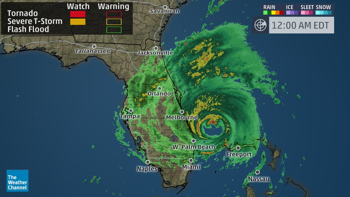 "The Weather Channel В Twitter: ""hurricane #matthew Producing 70+ Mph - Weather Channel Florida Map"