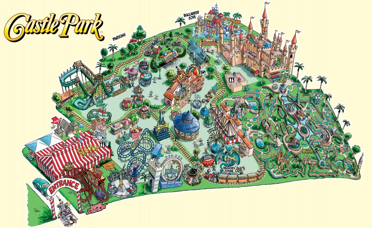 Theme Park Brochures Maps - Theme Park Brochures | Mangroves - Southern California Amusement Parks Map