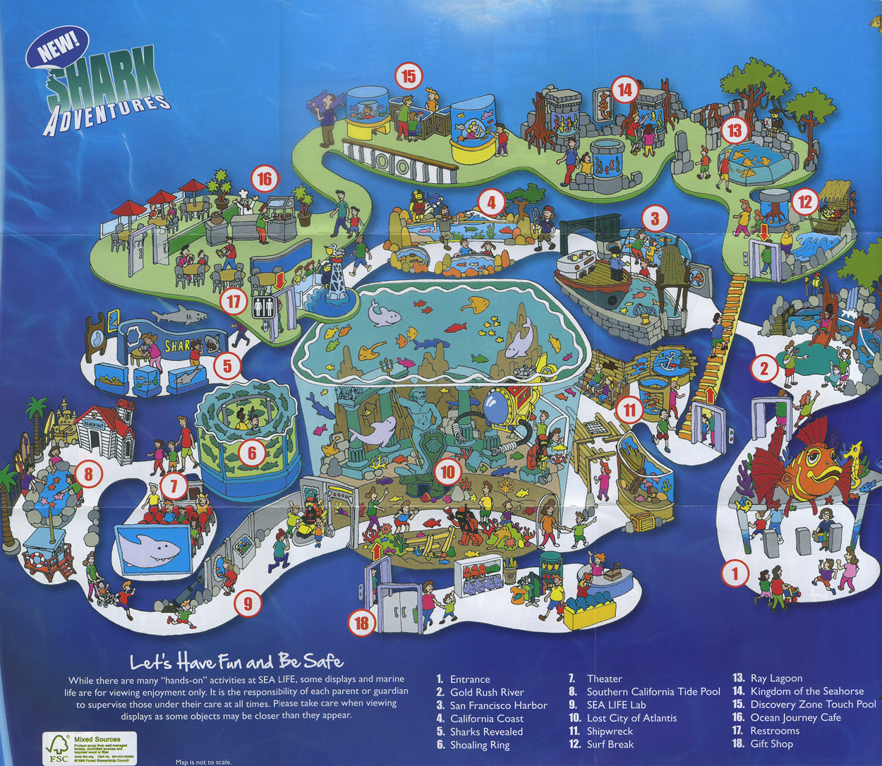Theme Park Brochures Sea Life Aquarium - Theme Park Brochures - Florida Aquarium Map