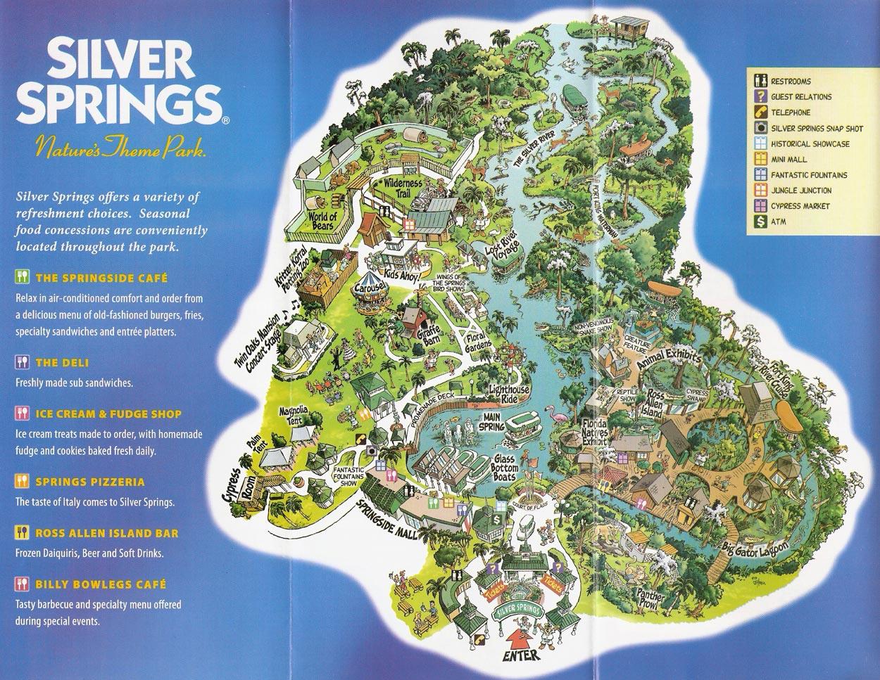 Theme Park Brochures Silver Springs - Theme Park Brochures - Silver Springs Florida Map