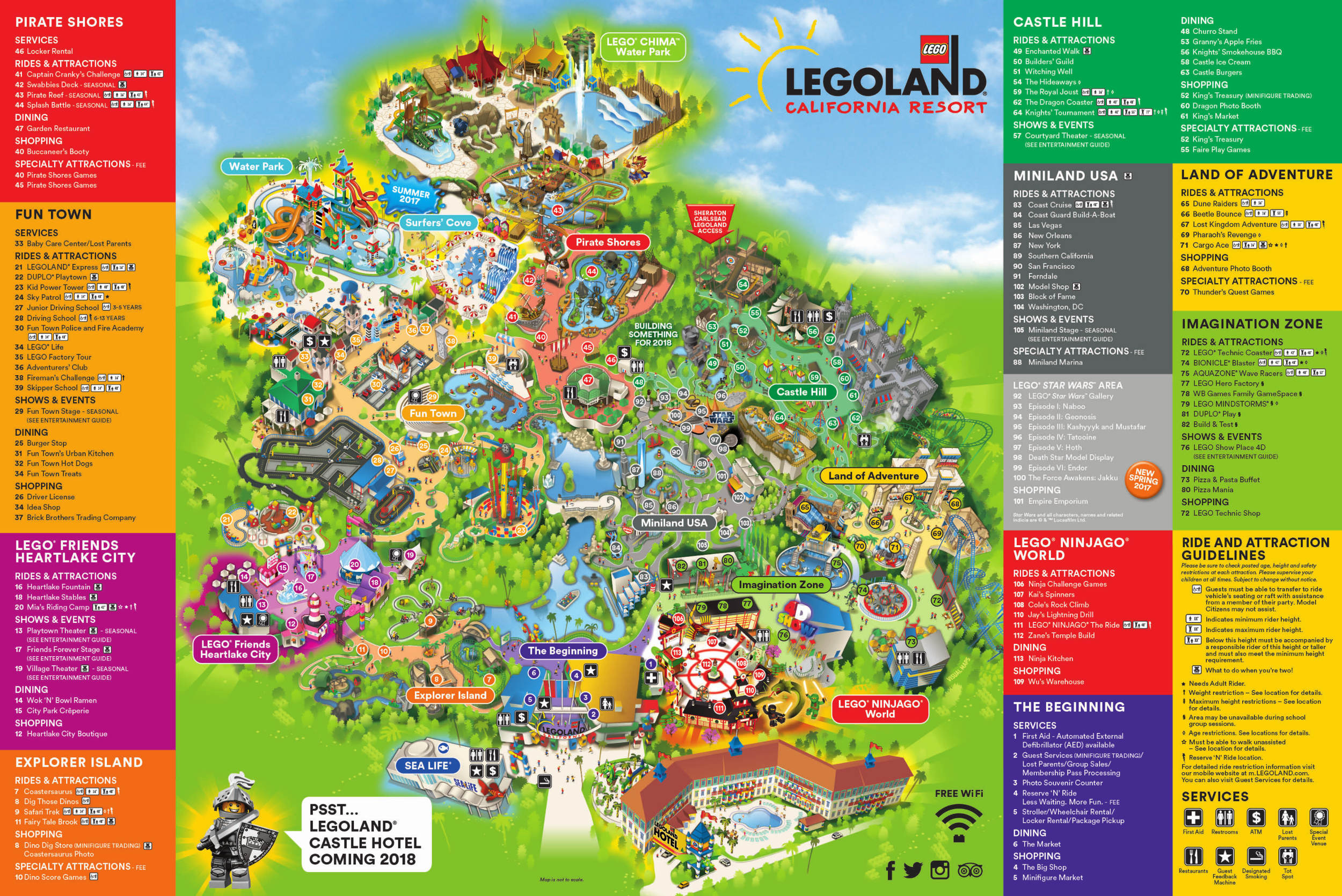 Theme Park Brochures Six Flags Great America In California S Map - California's Great America Map 2018