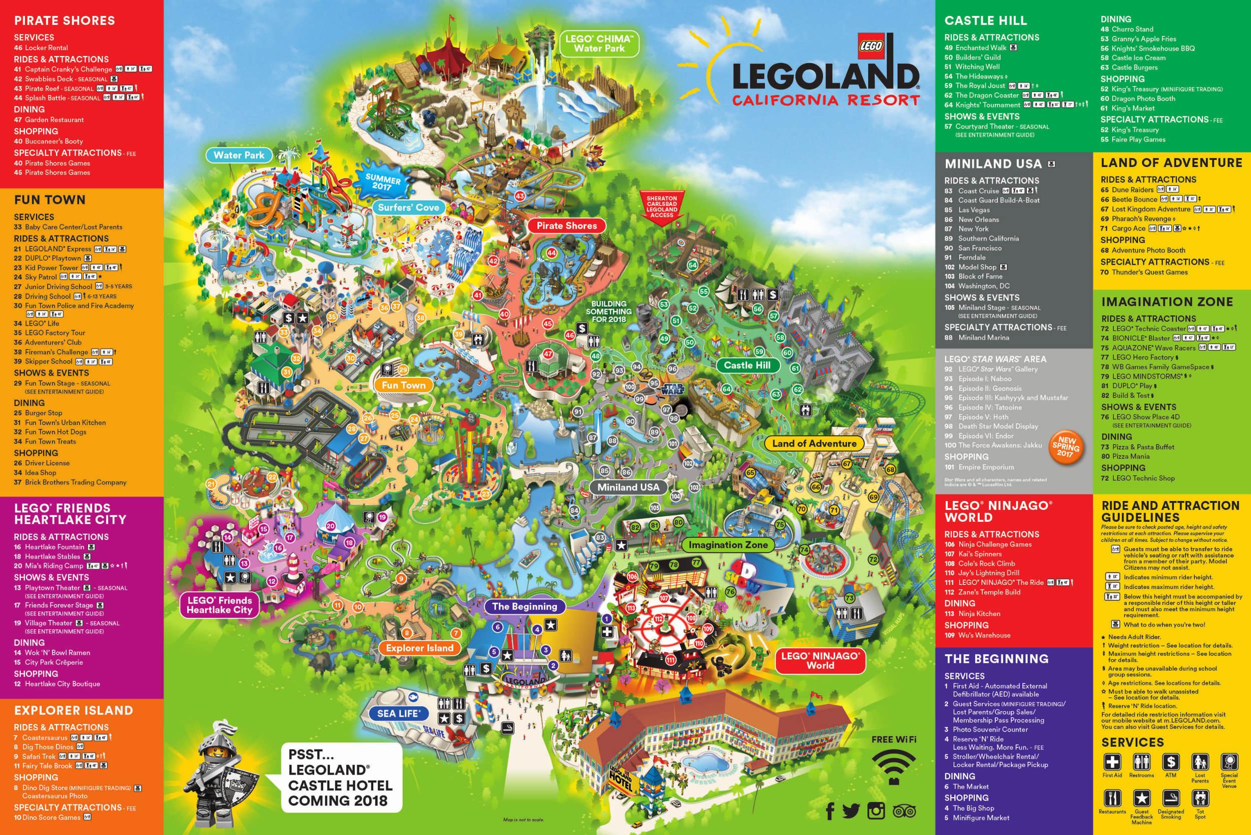 Theme Park Brochures Six Flags Great America In California S Map - Six Flags Map California 2018