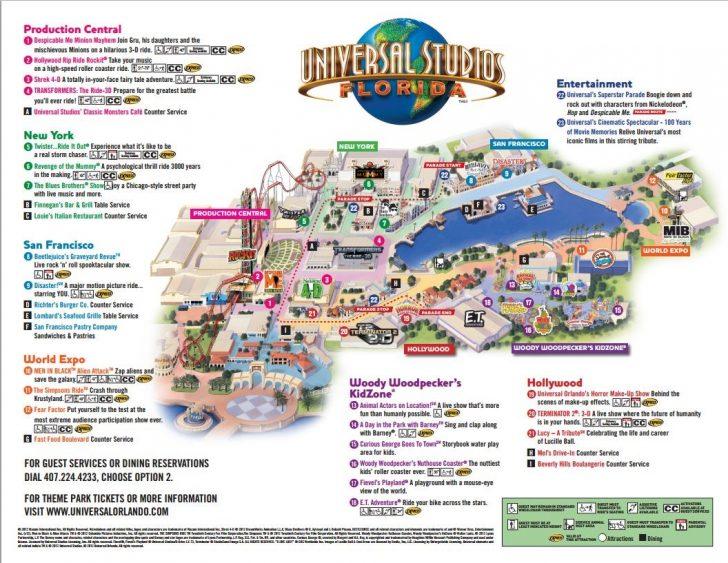 Universal Parks Florida Map