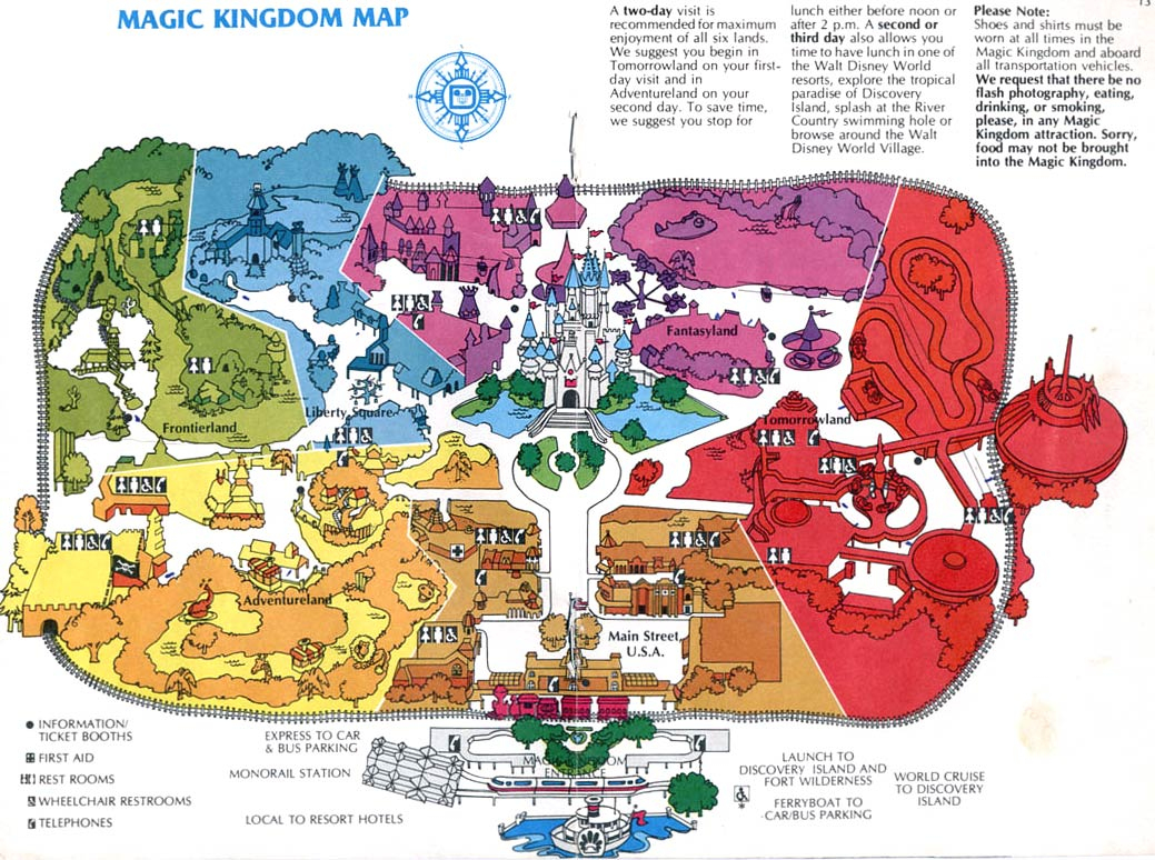 Theme Park Brochures Walt Disney World - Magic Kingdom - Theme Park - Magic Kingdom Orlando Florida Map