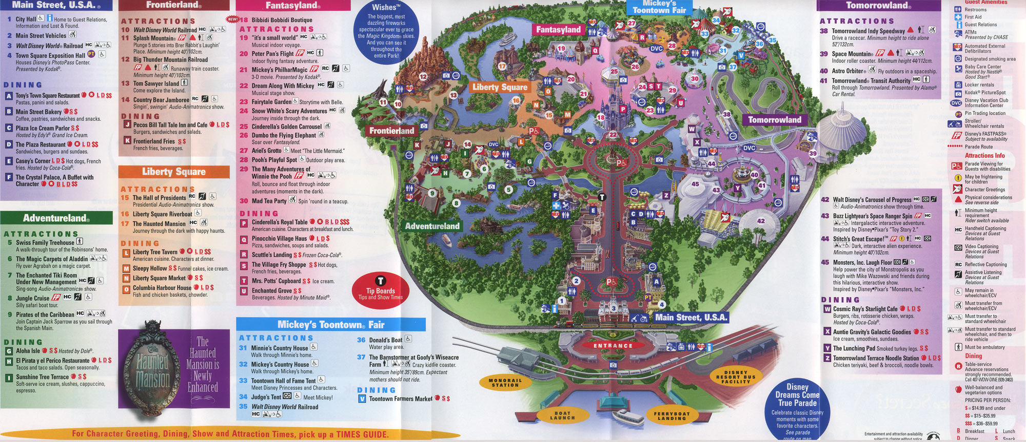 Theme Park Brochures Walt Disney World Magic Kingdom - Theme Park - Map Of Magic Kingdom Orlando Florida