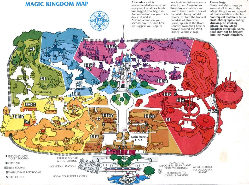 Theme Park Maps – Over The Years | Places I've Been | Pinterest - Disney World Florida Theme Park Maps