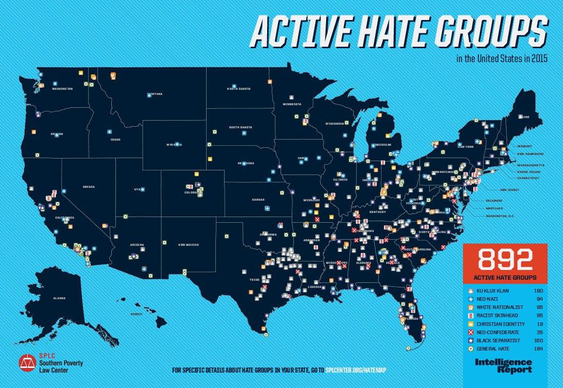 There Are 84 Active Hate Groups In Texas, The Most Of Any State | Kut - Map Of Hate Groups In Texas