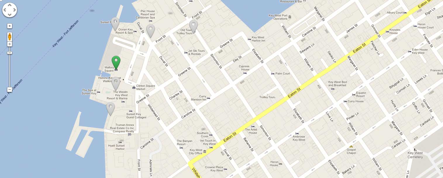 Things To Do In Key West | What To Do In Key Westmallory Square - Street Map Of Key West Florida