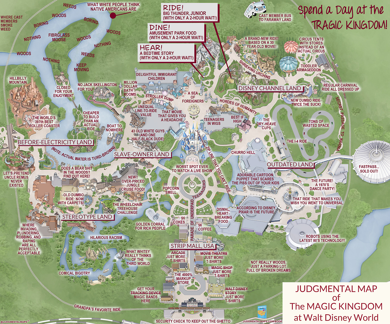 This 'judgmental Map' Of Magic Kingdom Is Pretty Accurate | Blogs - Magic Kingdom Orlando Florida Map