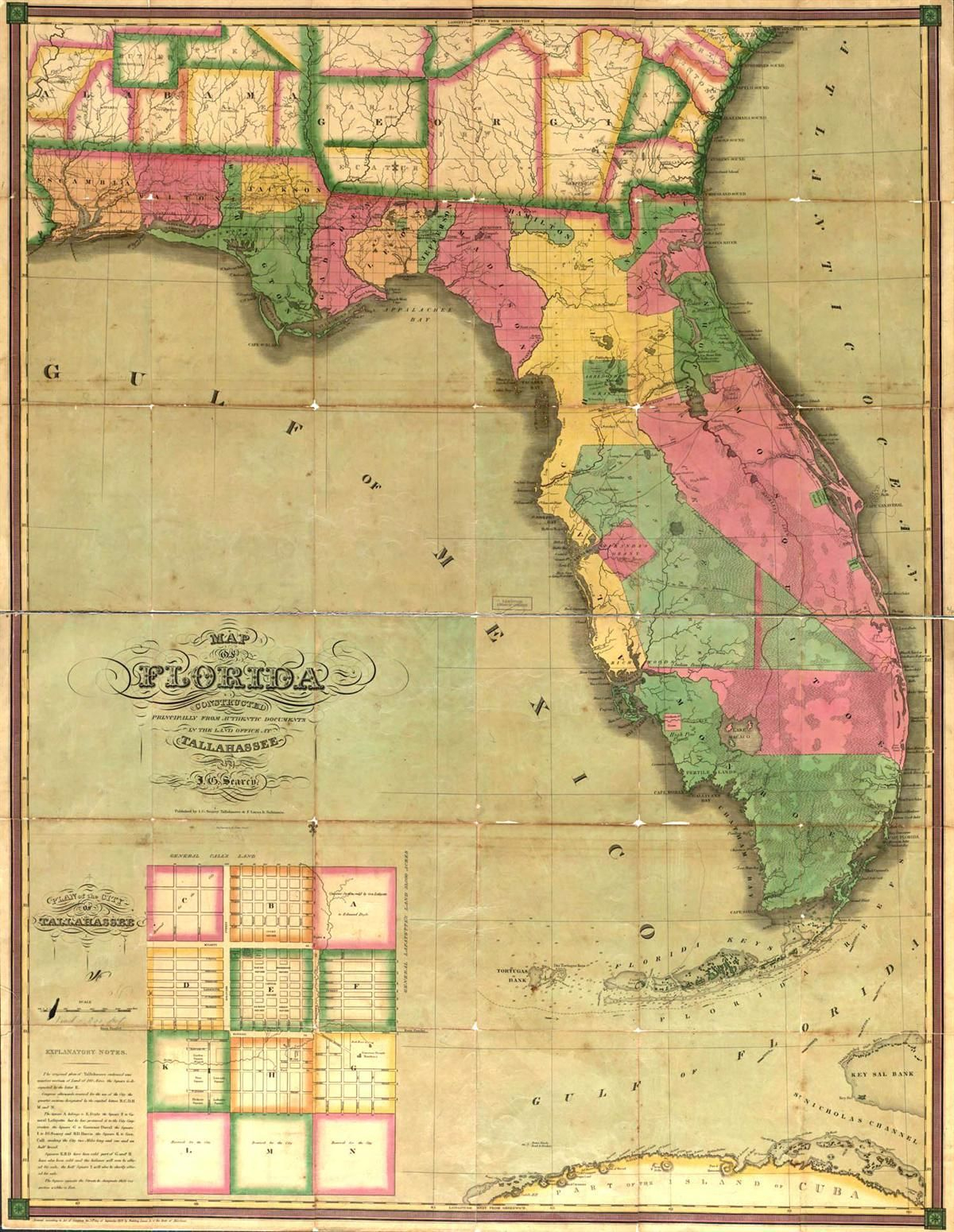 This Map Is Of Florida In The 1800's. | St. Augustine Primary Source - Vintage Florida Maps For Sale