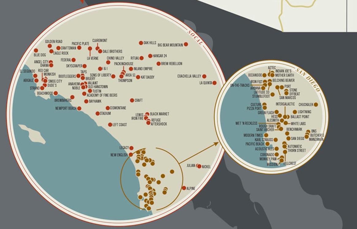 This Map Of Every Notable American Brewery Shows You How And - California Brewery Map