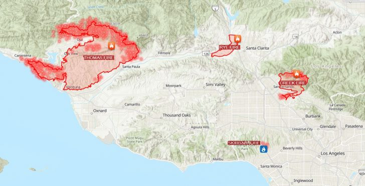 California Fire Map 2017
