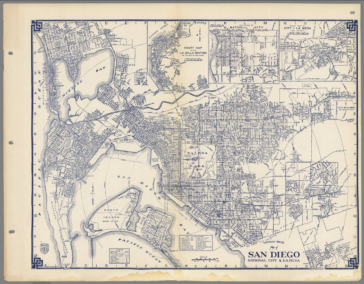 Thomas Bros. Map Of San Diego, National City & La Mesa, California - Thomas Bros Maps California