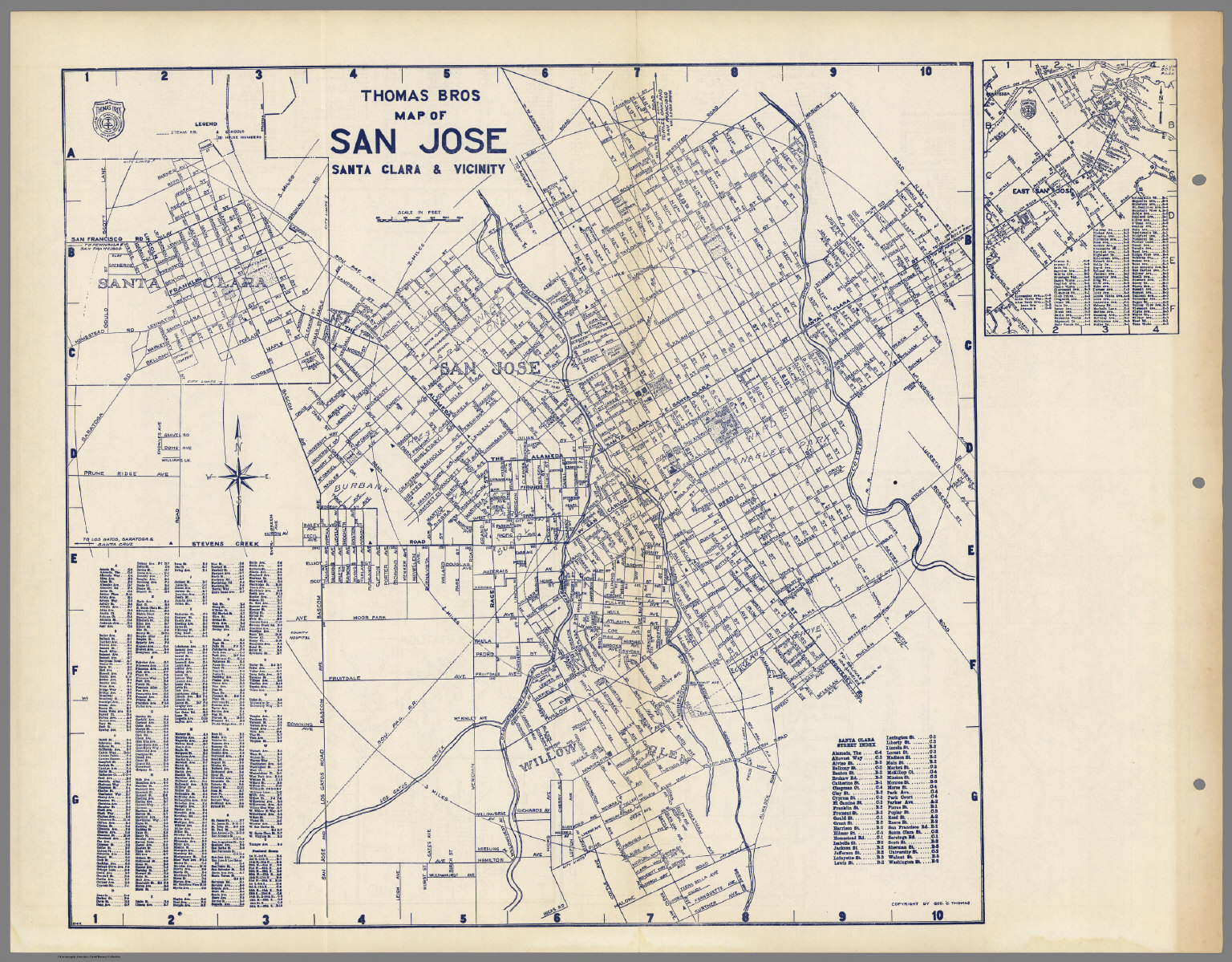 Thomas Bros Map Of San Jose, Santa Clara & Vicinity, California - Thomas Bros Maps California