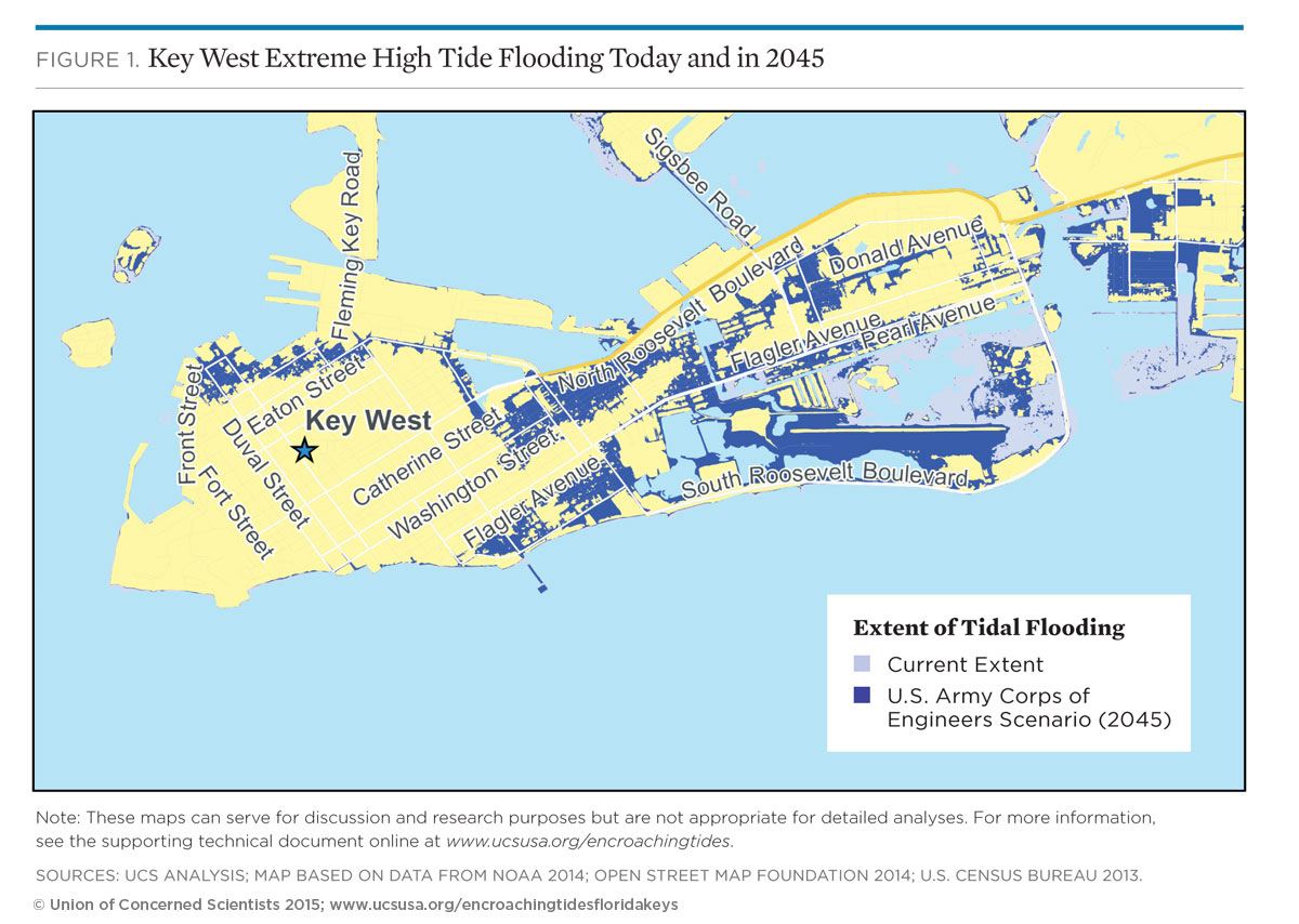 Tidal Flooding And Sea Level Rise In The Florida Keys (2015) | Union - Florida Keys Flood Zone Map