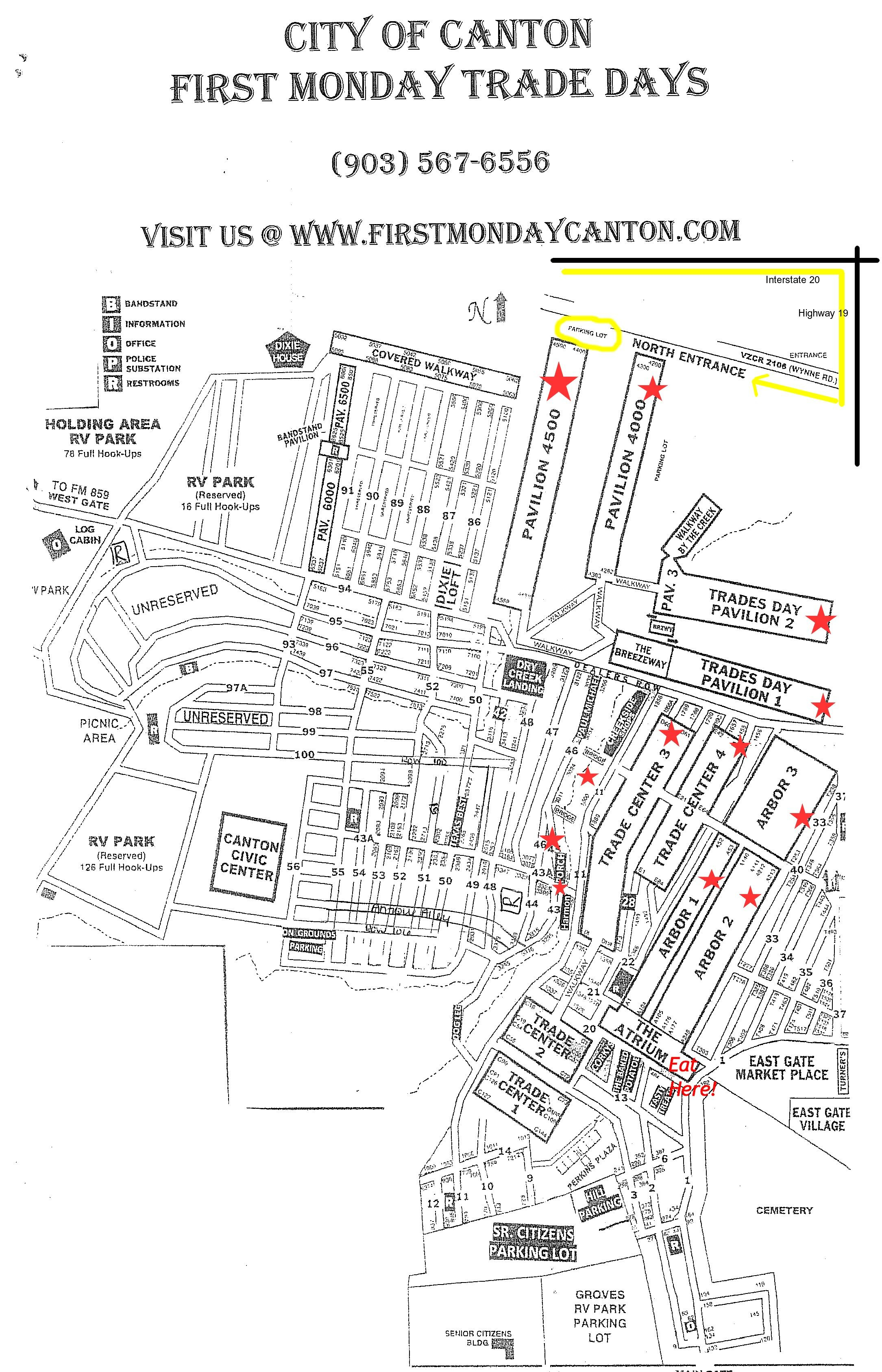 Tips When Visiting Canton First Monday Trade Days | Places I Wanna - Canton Texas Flea Market Map