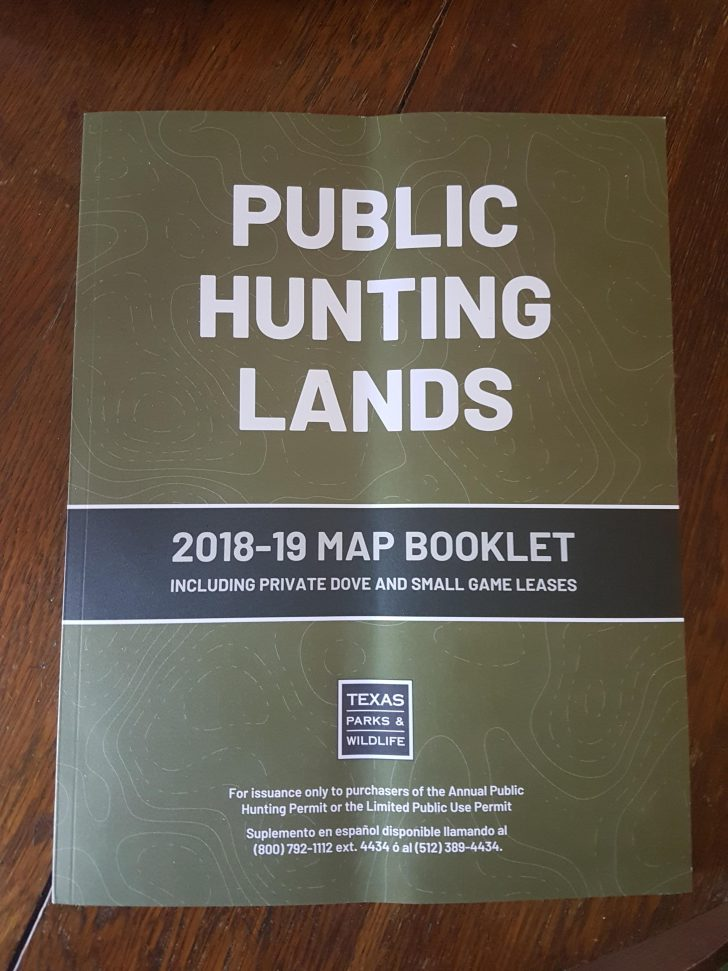 Texas Public Hunting Map Booklet