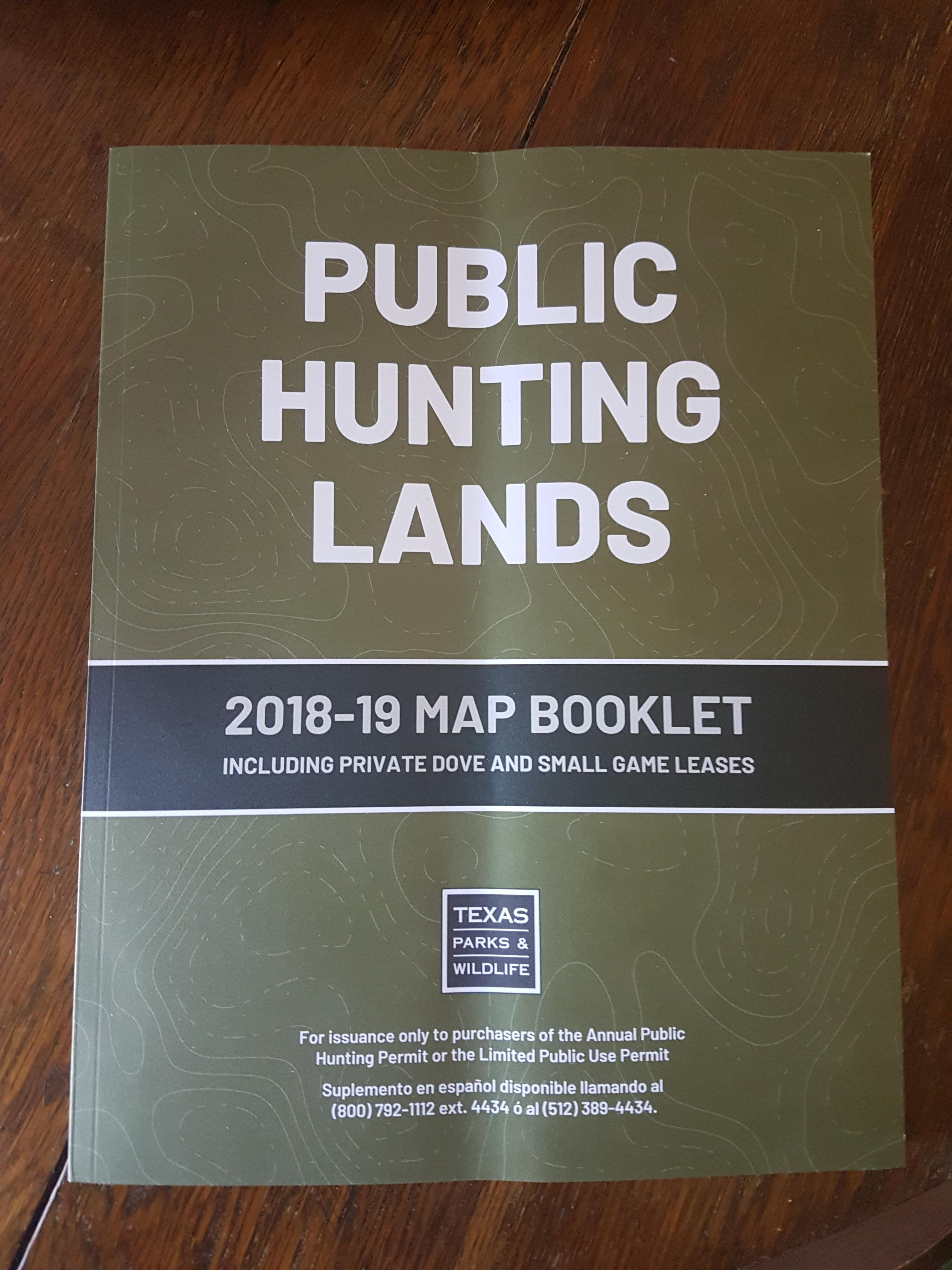 Tis (Almost) The Season - Texas Public Hunting Map Booklet
