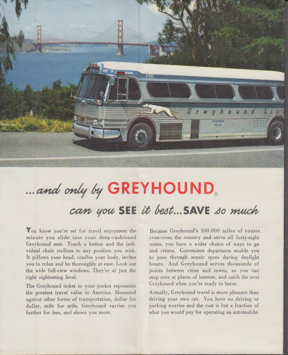 To & Through California & The West Greyhound Bus Map Folder 1956 - Greyhound Map California