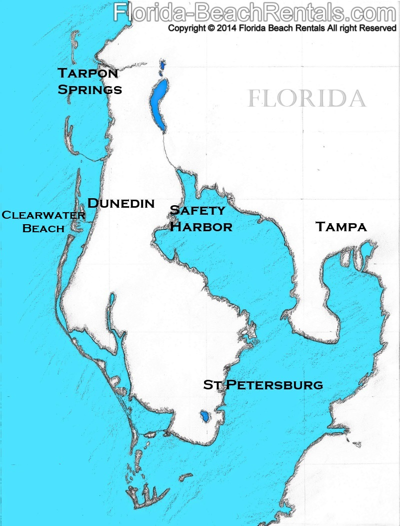 Top Towns To Visit On Your Clearwater Beach Vacation - Clearwater Beach Florida On A Map