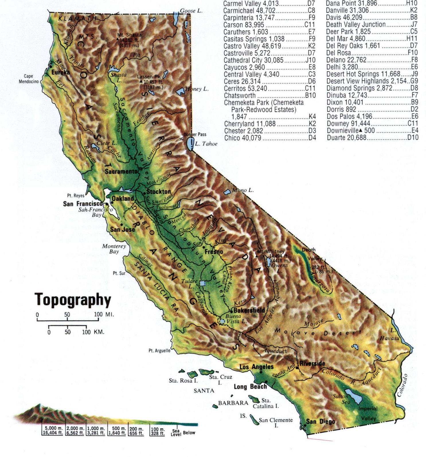 Topo Map California Topographic Maps Of California - Klipy - California Topographic Map Index