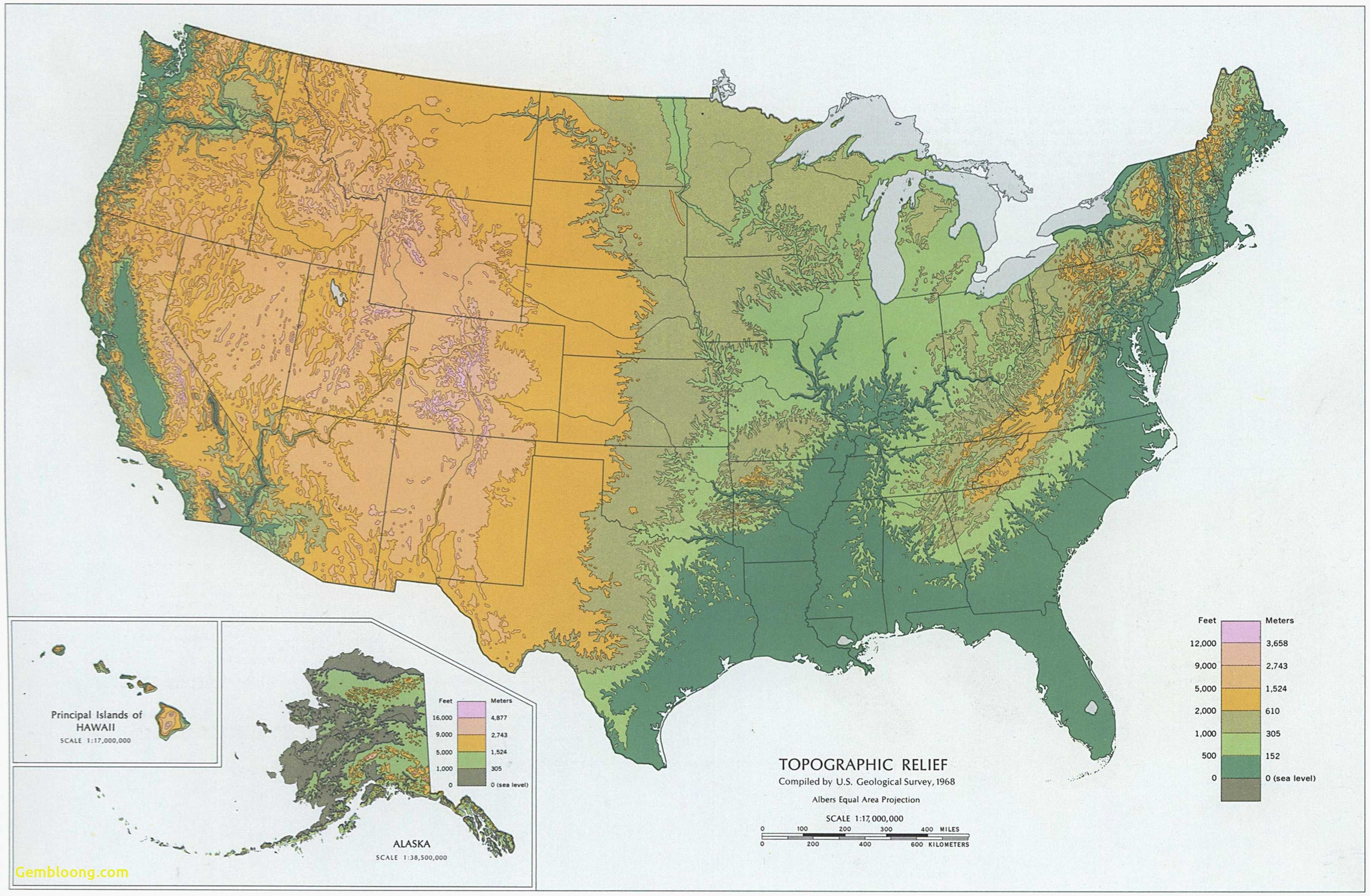 Topographic Map Eastern Us Best Topographic Maps United States - Printable Topographic Map Of The United States