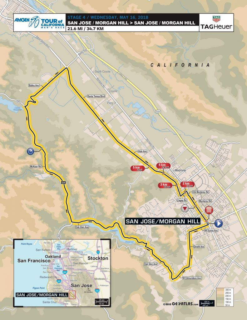 Tour-Of-California-2018-Stage-4-Map-767F4A1D56 - Cyclismepro - Tour Of California 2018 Map