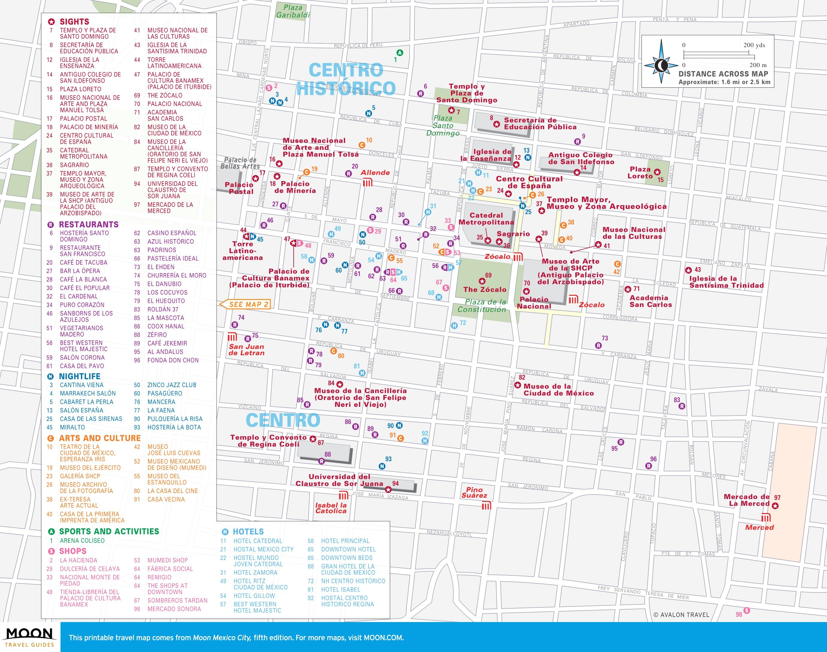 Tourist Map Of Mexico City | Globalsupportinitiative - Printable Map Of Mexico City